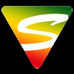 Das Icon der Sicurezza GmbH. Dreieck mit Ampelfarben mit ausgeschnittenem S